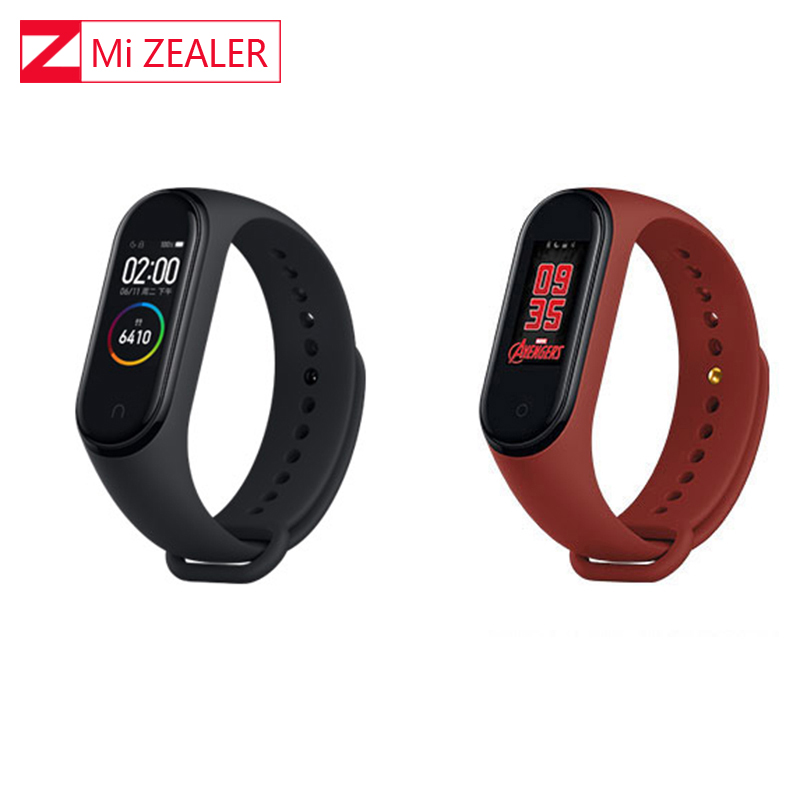 Global Version Xiaomi Miband 4 Smart Bracelet Heart Rate Fitness 3 Colors AMOLED Screen Smartband Fitness image