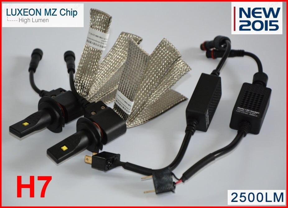 ФОТО 1set 40W 5000LM H7 LED Headlight Kit Car Driving Lamp Bulbs 6500K White Fog lamp