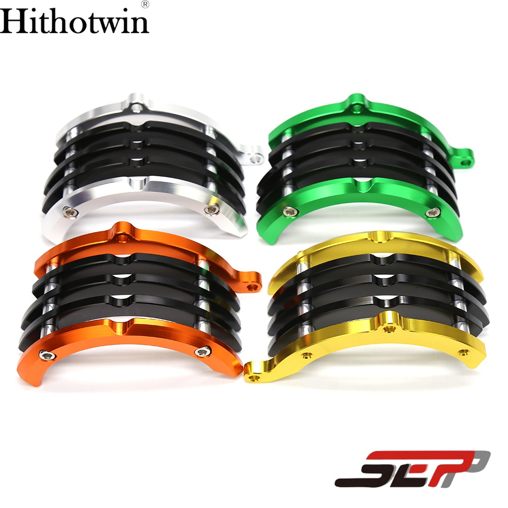 SEP CNC Aluminum Motorcycle Engine Cover Right Side Engine Clutch Protector  Guard For Kawasaki Z125 Z125 Pro 2015 2016 2017