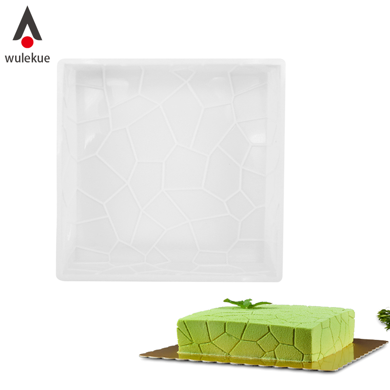 Wulekue Silicone Cake Mold Square Shape Mousse Pan 3D Baking Pastry Dessets Bakeware Tools Non-stick Muffin Soap Moulds