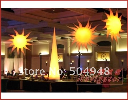 inflatable lighting sun for party decoration inflatable party sun decoration inflatable light star
