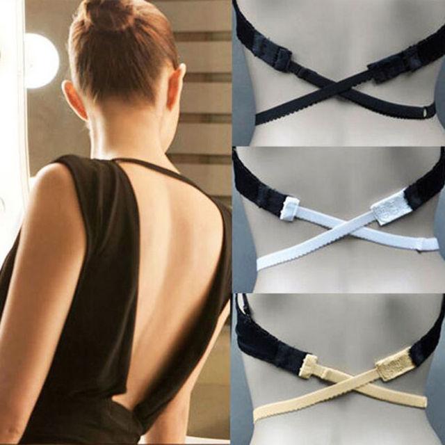 283c4dc5e Fashion Women Sexy Smart Adjustable Low Back Backless Bra Strap Adapter  Extender Hook Underwear Accessories