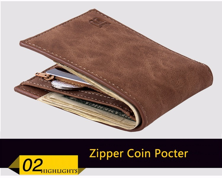 Coin Bag zipper 17 New men wallets mens wallet small money purses Wallets New Design Dollar Price Top slim Men Wallet For Male 16