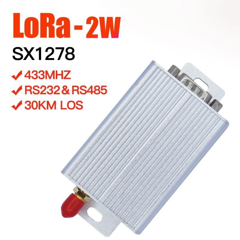 2W SX1278 lora émetteur 433mhz émetteur-récepteur longue portée lora module 433mhz uhf vhf récepteur rs485 et rs232 données radio modem
