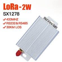 2W SX1278 lora transmitter receiver lora uart 433mhz transceiver long range lora module 433mhz lora rs485 rs232 radio data modem