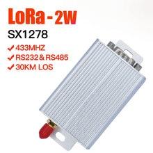 2W SX1278 לורה משדר מקלט לורה uart 433mhz משדר ארוך טווח לורה מודול 433mhz לורה rs485 rs232 רדיו נתונים מודם