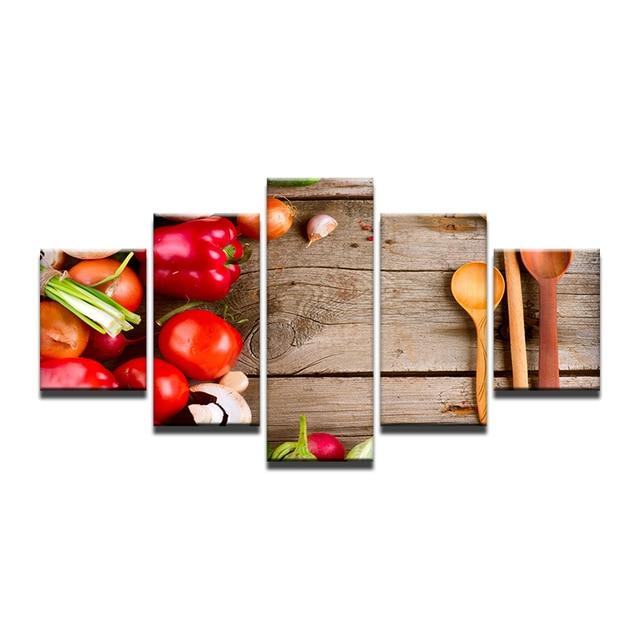 Ingredienti Cucchiaio da cucina Pomodoro Stampa Artistica Pittura ...