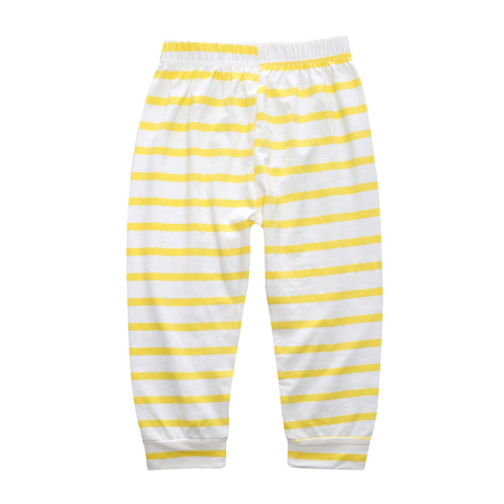 Spring Autumn Childrens Clothing Baby Girls Boys Clothes 0-2-year-old Baby Child Suit Stripe Cute Deer Hooded Sets Two Pcs Suit