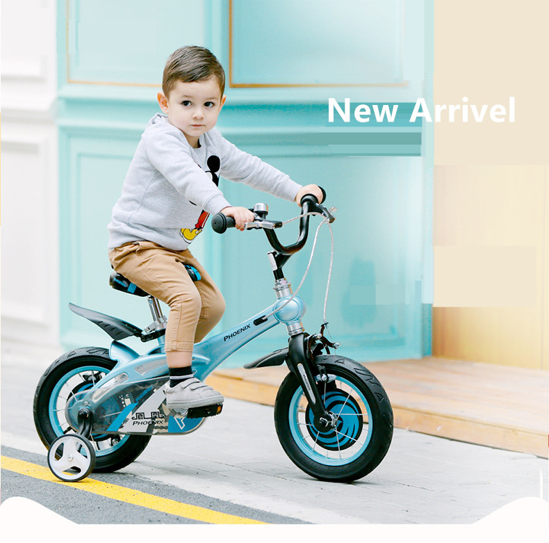 Best New Brand Magnesium Alloy Frame Child Bike 12/14/16 inch Auxiliary Wheel Dual Disc Brake Bicycle Boy Girl Children buggy 0