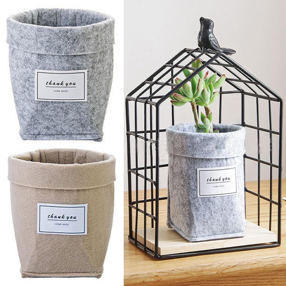 HTB1ga59XIrrK1Rjy1zexh4alFXaL - Plant Grow Bag New Home Decorations Desktop Flower Basket Fleshy Pot