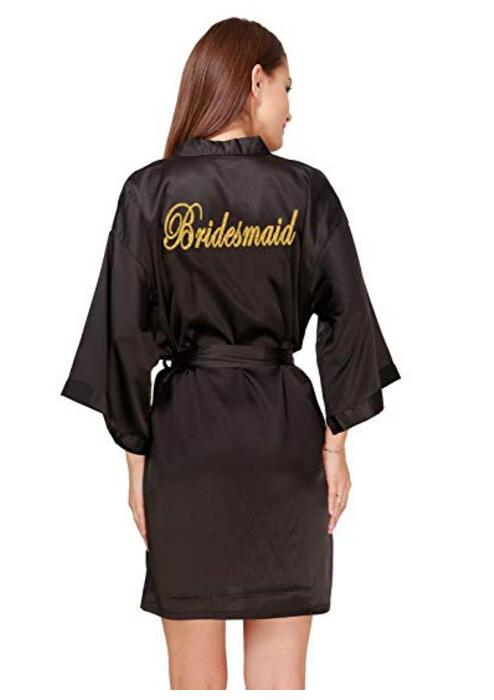 Bridesmaid Robes Sleepwear Robe Wedding Bride Bridesmaid Robes Pyjama Robe Female Nightwear Bathrobe Nightdress Nightgown(China)