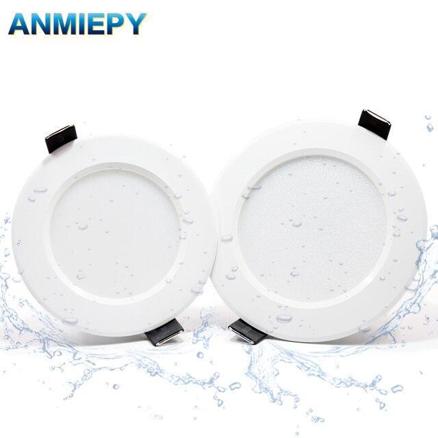 10 adet kısılabilir su geçirmez led Downlight AC220V 230V 5W 7W 9W 12W 15W 18W LED kapalı lamba gömme LED Spot ışık banyo