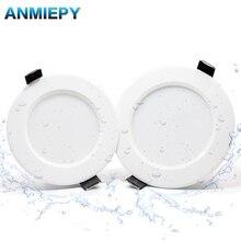 Lámpara LED impermeable regulable para interior, foco empotrable LED para baño, AC220V, 230V, 5W, 7W, 9W, 12W, 15W, 18W, 10 Uds.