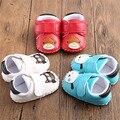 Bebê Recém-nascido animal dos desenhos animados De Borracha Não-deslizamento de Couro Fundo macio Do Bebê Sapatos Primeiro Walkers Criança Sapatos Meninas
