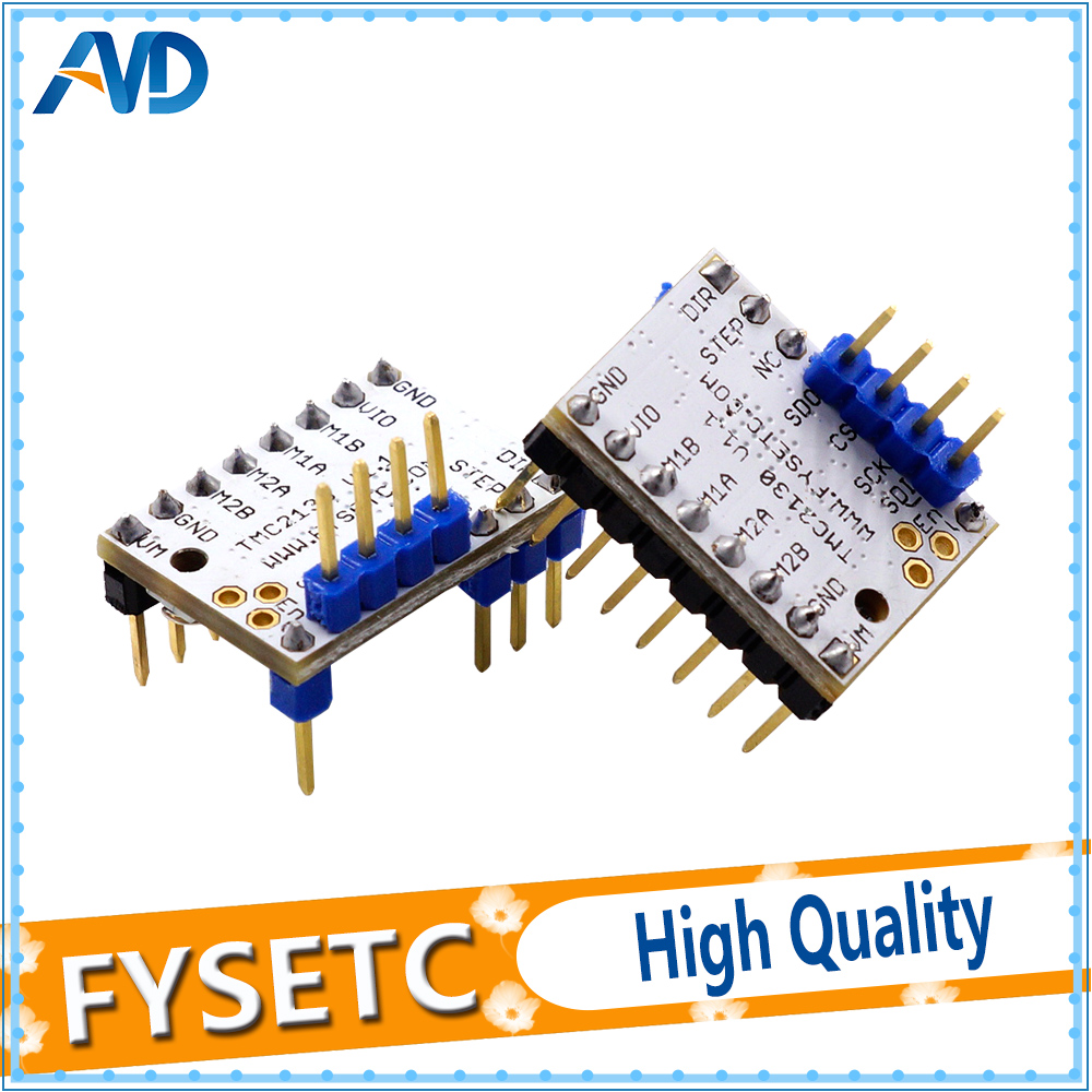 2X MKS TMC2130 V1.1 Stepstick Stepper Motor Driver SPI with Heat Sink Ultra-silent Excellent VS TMC2100 TMC2208 TMC2130 V1.0