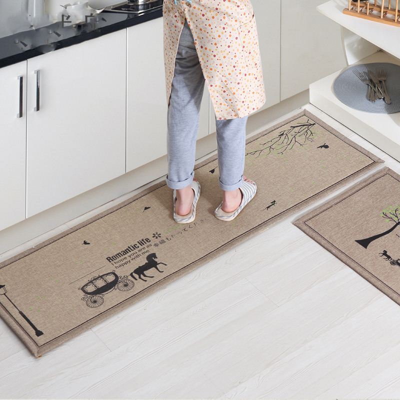 50X80CM+50X160CM/Set Doormat Non-Slip Kitchen Carpet/Bath Mat Home Entrance Floor Mat Hallway Area Rugs Kitchen Mat