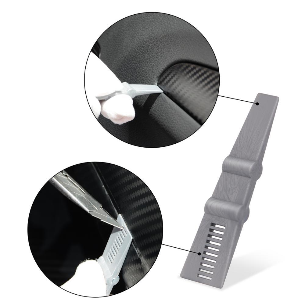 EHDIS Vinyl Wrap Car Sticker Glue Remover Squeegee Scraper Tool Carbon Fiber Film Auto Car Wrapping Accessories Window Tint Tool