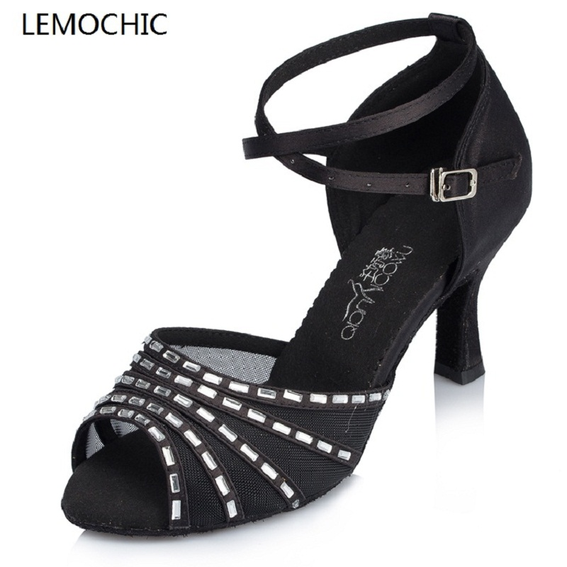 LEMOCHIC lady ballroom latin jazz belly cha cha dancing ballroom samba rumba pole salsa tango arena dance shoes low price