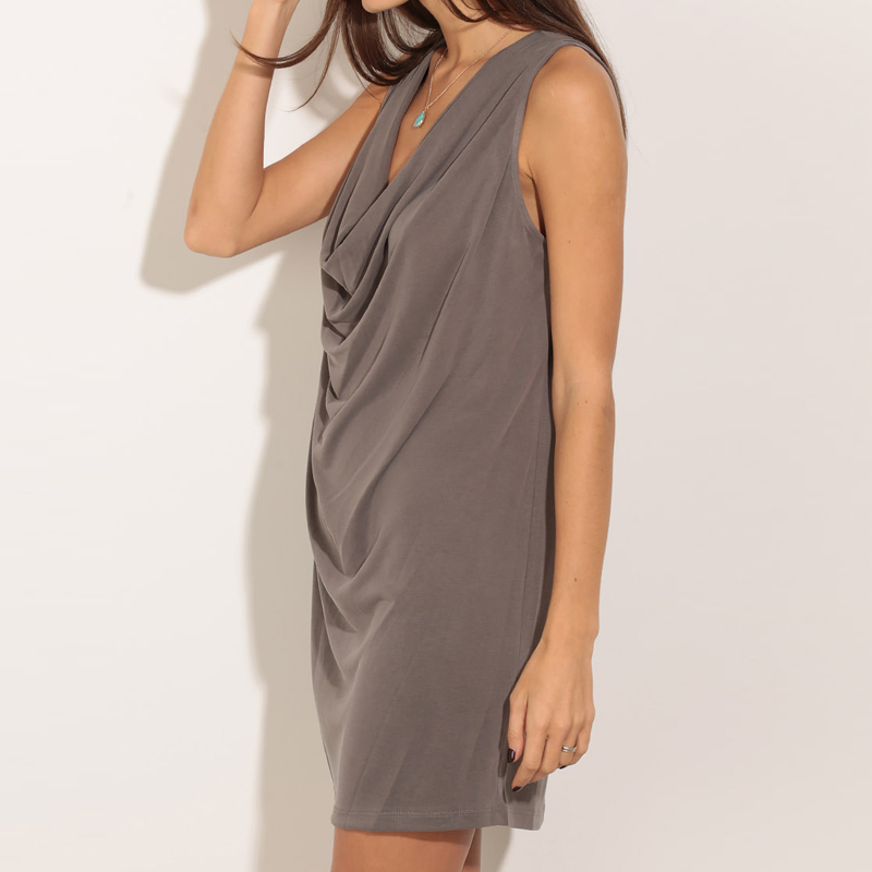 Cowl Neck Summer Dress
