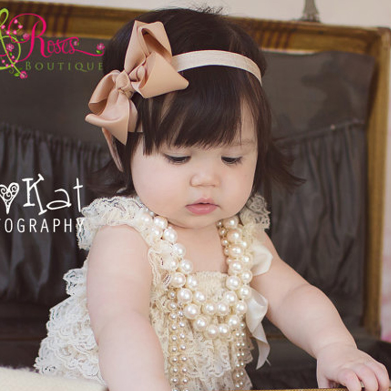 Hair Accessories Modest Baby Girls Headband Toddler Printing Hairpin