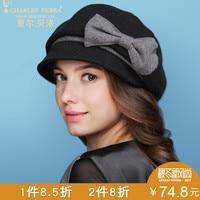 New Arrival Visor Hat Autumn And Winter Thicken Warm Cap Girls Elegant Berets Cap Lady Woolen