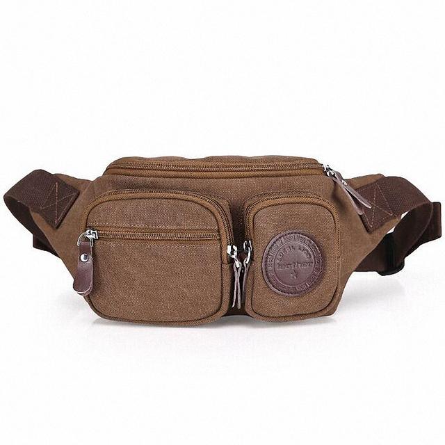 Novos Pacotes de Cintura Da Lona de alta qualidade Bolsa De Couro Jogo Portátil Pequena Capacidade de Homens e Mulheres Saco Da Cintura bloco de Fanny LI-1134