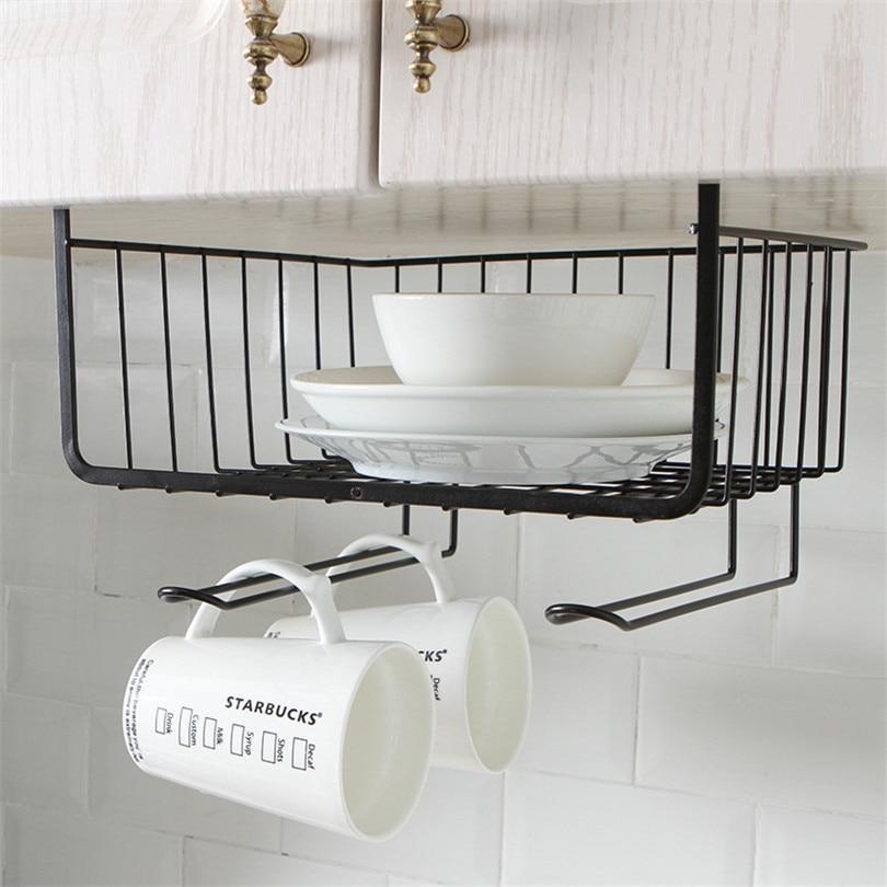 Wrought Iron Kitchen Accessories: Kitchen Accessories Bowl Plate Hanging Storage Basket