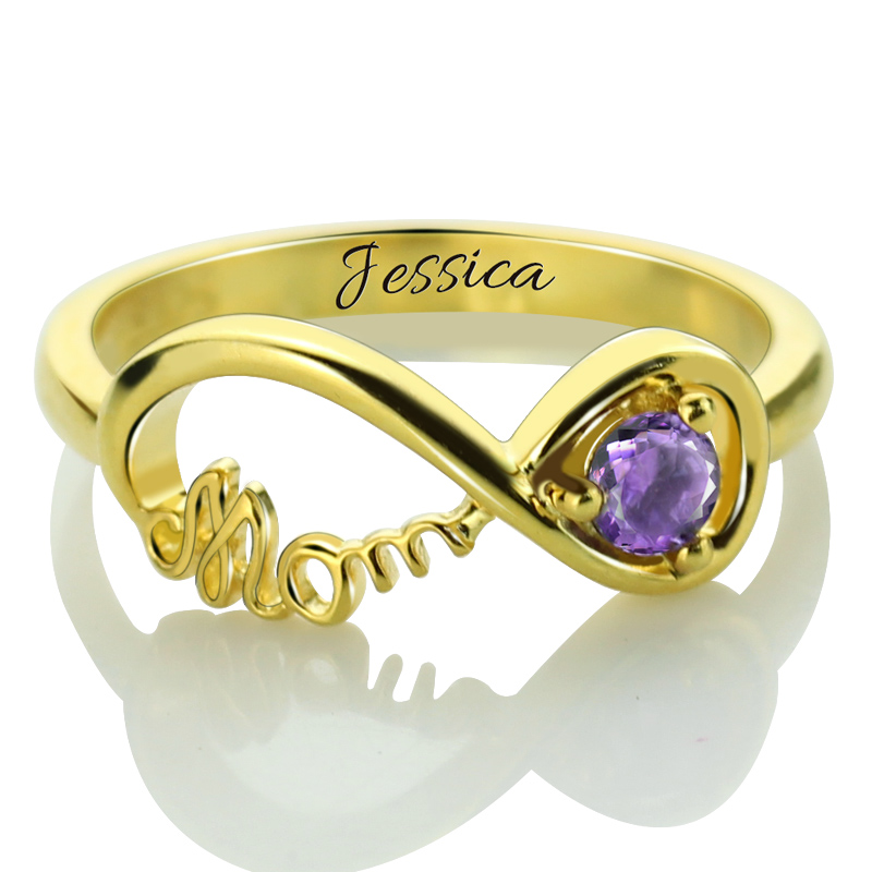 side ring infinity mother rings mothers stone custom with