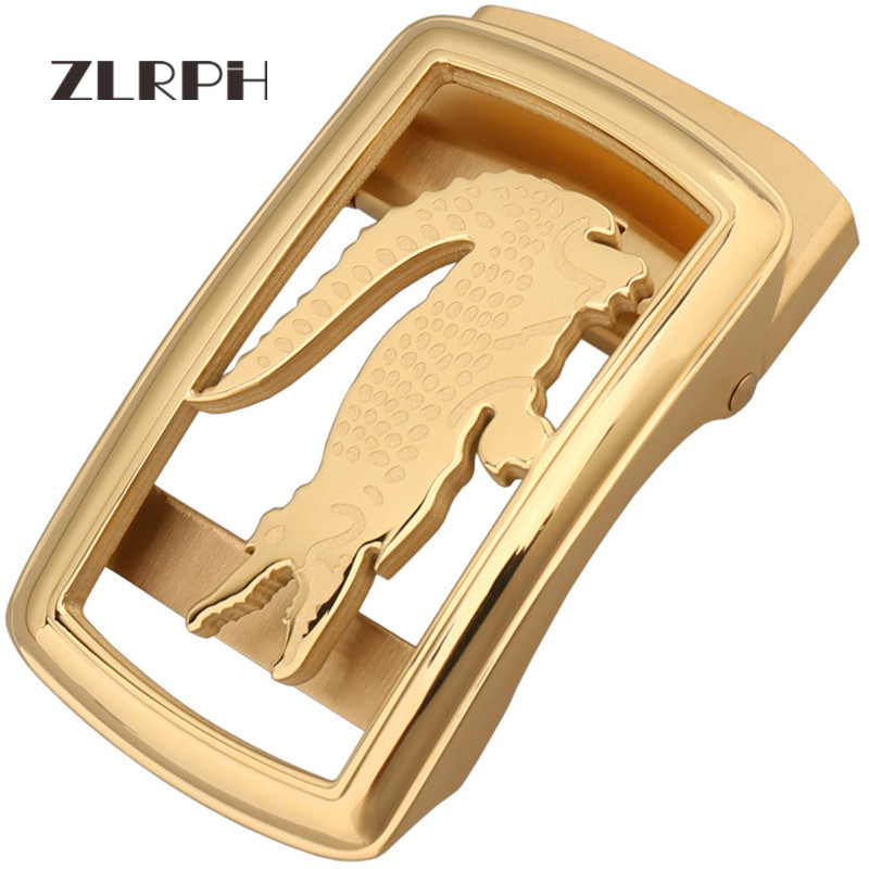 ZLRPH Trendy Design Belt Buckle Head High-grade Polished Electroplating Alloy Automatic Buckle Stainle Steel Crocodile