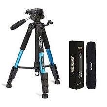 Zomei q111 profissional portátil tripé de viagem alumínio com saco acessórios da câmera suporte para digital com pan cabeça dslr