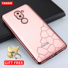 For huawei honor 6X case luxury silicone TPU soft back cover pink for huawei honor 6x case transparent shell cute original Yagoo