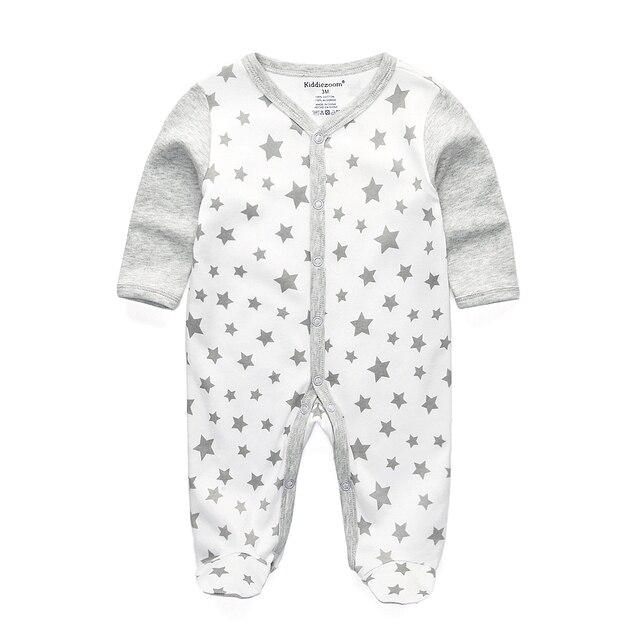 2017 rompers יילוד בגדי תינוקות תינוק חדש לילדים פיג 'מה כותנה תחתוני שרוול ארוך תלבושות rompers בני בנות סתיו