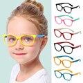 Очки детские с защитой от синего спектра, мягкая силиконовая оправа, гибкие защитные компьютерные очки