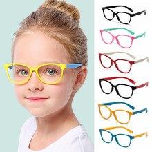 Novas crianças óculos quadro anti-azul raios óculos de silicone macio quadro crianças flexível óculos de proteção do computador