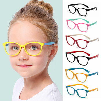 New Children Glasses Frame Anti-blue Rays Soft Silicone Flexible Protective Computer Goggles Eyeglasses - discount item  35% OFF Eyewear & Accessories