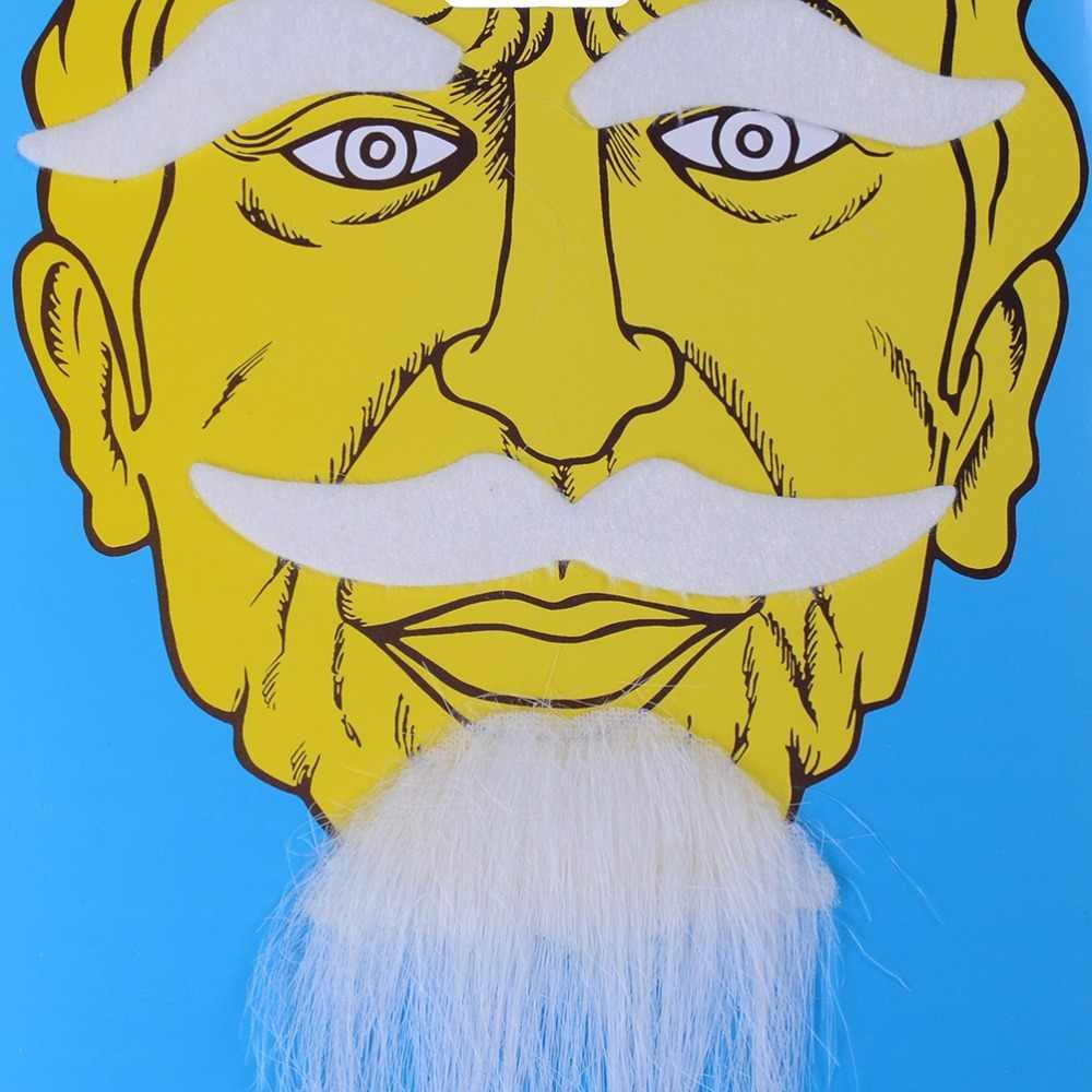 GETTO 1Set Divertente Del Partito Del Costume di Halloween Barba Facciale Dei Capelli Travestimento Nero Baffi Decorazione Del Partito 5 uomini di Stile barba