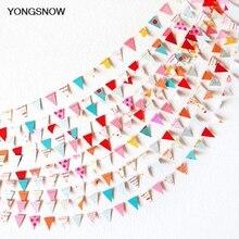 4m pequenas bandeiras de papel penduradas, guirlanda de papel enfeite de casamento, bandeira de bebê chuveiro, decoração de aniversário, streamer, suprimentos para festa