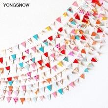 Banderas de papel pequeñas de 4m, guirnalda de papel para boda, banderines, decoración de cumpleaños para Baby Shower, Streamer, suministros para fiesta