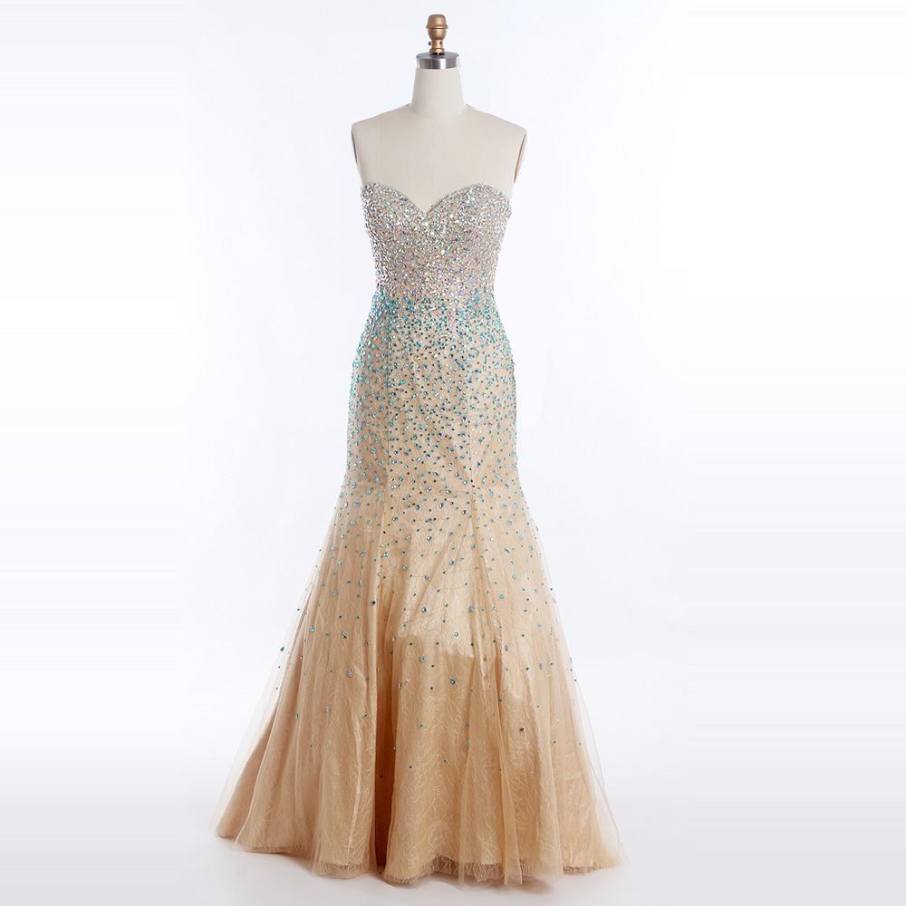 Mermaid Long Evening Dresses with Beading Sequined Sweetheart Party Gowm Sleeveless Bandage vestidos de novia robe prom dresses