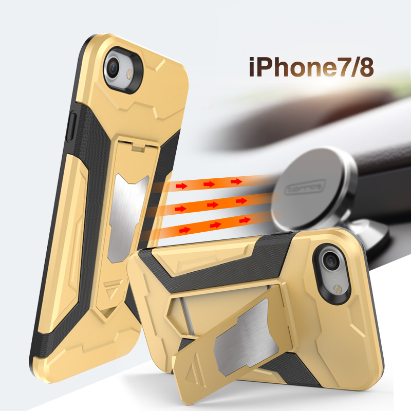 Bumper Cover for Apple iPhone 7 8 Car Holder Armor Phone Case iPhone7 Soft TPU and Hard PC Dual Shockproof Casing iPhone8 Fundas
