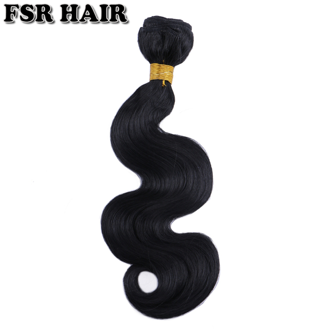 """12-24"""" Body wave Synthetic Hair Weave Pure Color Sew in Hair Extensions 100g one bundle Hair product 1"""