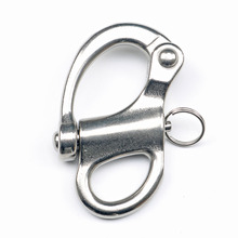5 Pcs 316 stainless steel Fixed Eye Snap Hook Rigging Sailing Fixed Bail Snap Shackle Sailboat Sailing Boat Yacht Outdoor Living marine 304 stainless steel 87mm swivel jaw snap shackle fixed bail s ring buckle of 3
