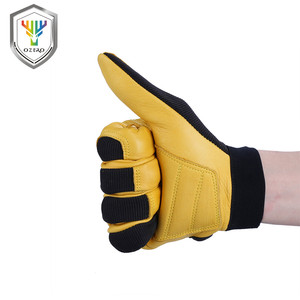 Image 5 - OZERO Mens Work Gloves Deerskin Leather Driver Security Protection Wear Safety Workers Working Racing Moto Gloves For Men 8003