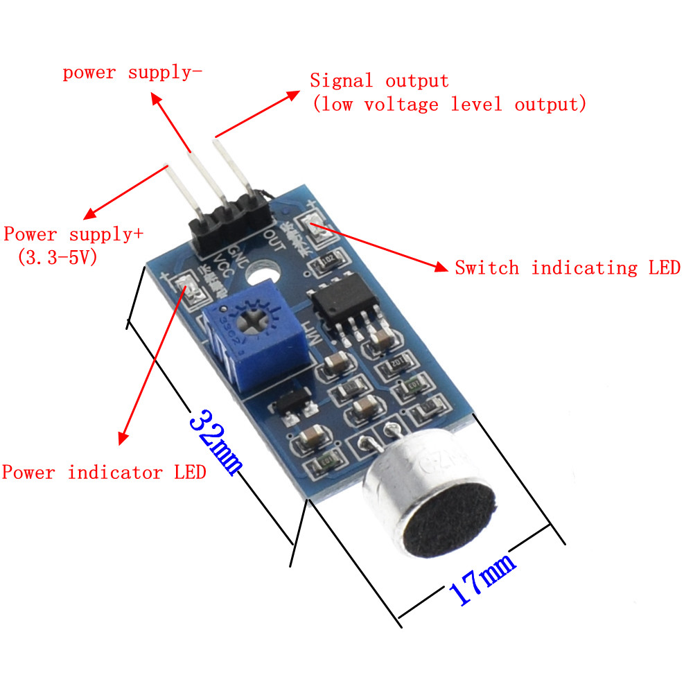 Voice Sound Detection Sensor Module