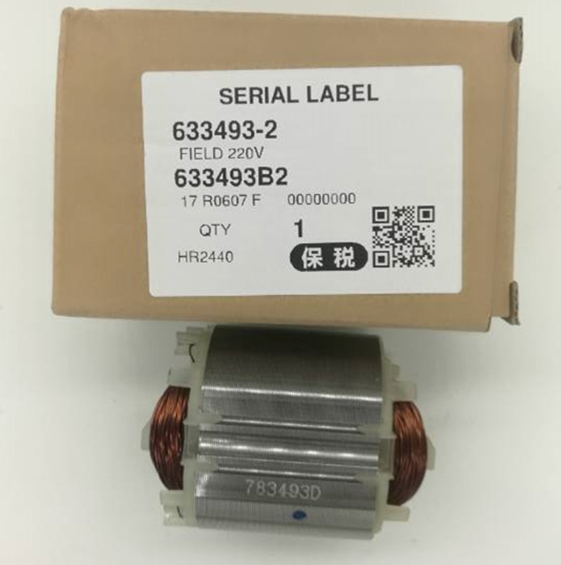 цена на 220-240V  Field Stator 633488-5 633493-2 for MAKITA  HR2450A HR2450T HR2440 HR2440F HR2450 HR2450FT HR2450F HR2432 HR2020
