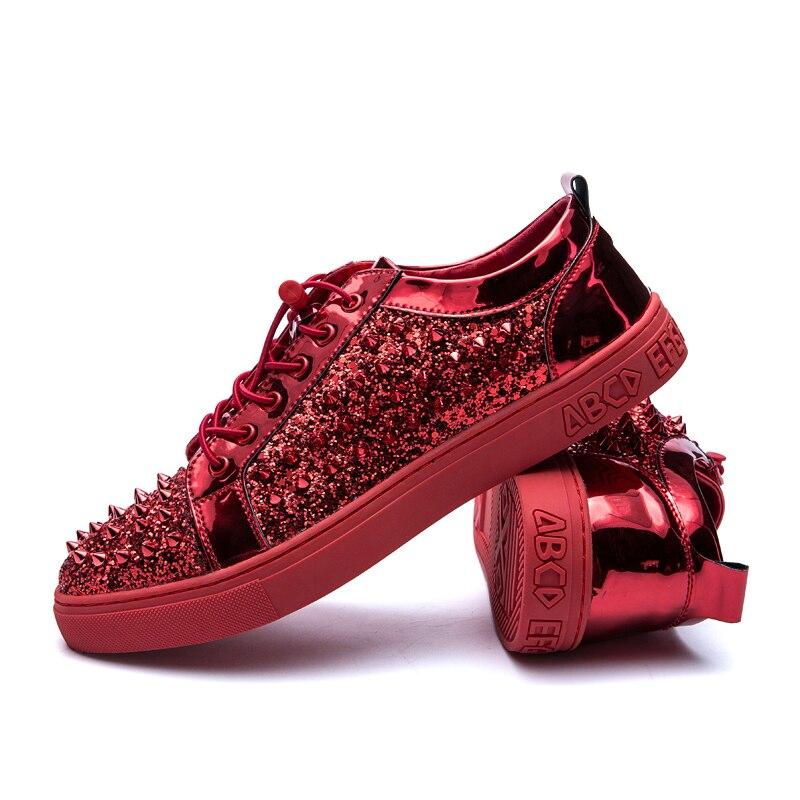 rouge De Rivets lead Marée Bas Chaussures Aider Plaque Hommes Color Pour Noir Personnalité SdqEwHWcxv