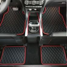 ZHAOYANHUA Universal Car floor mats for RHD/LHD BMW 3 5 7 Series F20 E90 F30 E60 F10 car styling waterproof carpet floor mats for bmw 3 series f34 gt 2012 2019 rubber floor mats into saloon 5 pcs set seintex 86535