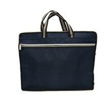 Оксфордская тканевая бизнес-сумка, деловая Мужская и женская портативная на молнии, Внутренний материал, искусственная кожа, сумка для файлов, двойная посылка данных, 1 шт