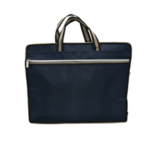 Oxford cloth briefcase business men and women portable zipper internal material PU leather file bag double data package 1pcs