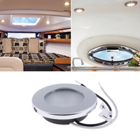 dome lamp Stainless Steel 12V Car Round Ceiling Dome Roof Interior Light Lamp Marine Hardware Vehicle Accessories (3)